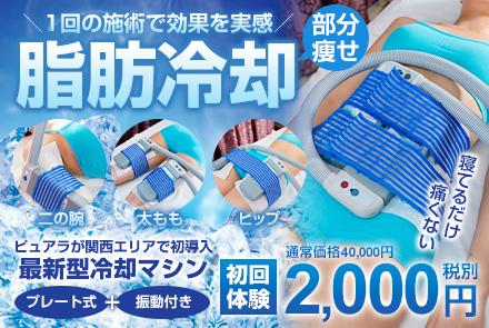 大阪のエステサロン・ピュアラの痩身 ボディケア・脂肪冷却ダイエットコース